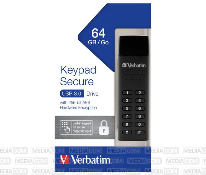 USB 3.0 Stick 64GB, Secure, Keypad