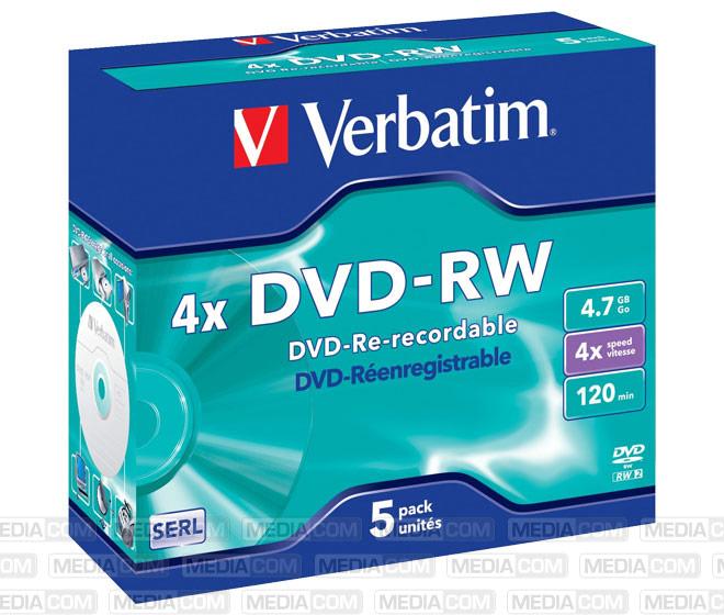 DVD-RW 4.7GB/120Min/4x Jewelcase (5 Disc)