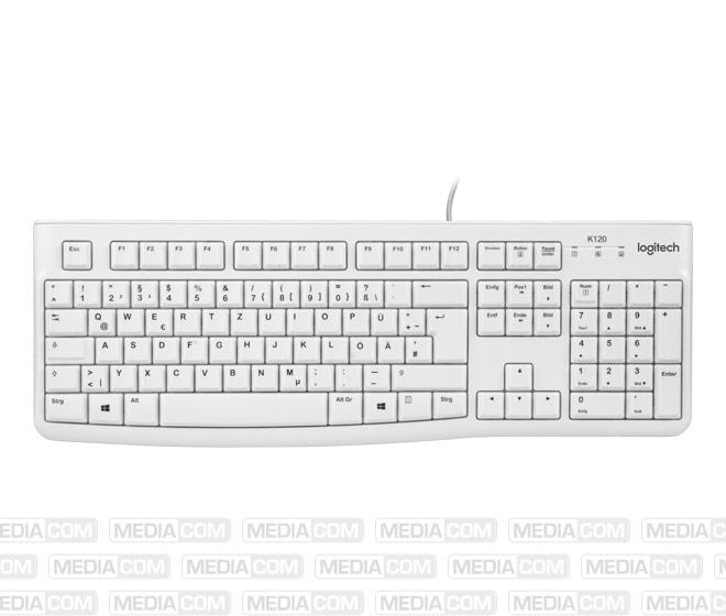Tastatur K120, USB, weiss
