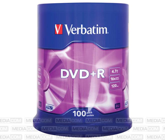 DVD+R 4.7GB/120Min/16x Cakebox (100 Disc)