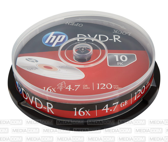 DVD-R 4.7GB/120Min/16x Cakebox (10 Disc)