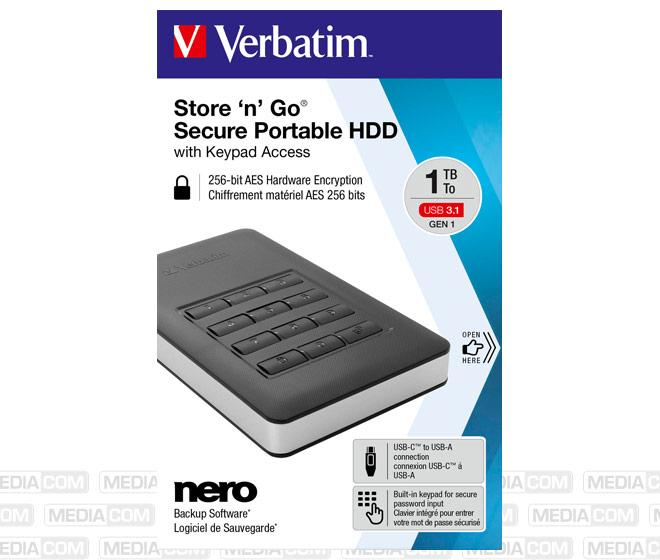 Festplatte 1TB USB 3.1, A-C, 6.35cm (2.5''), schwarz