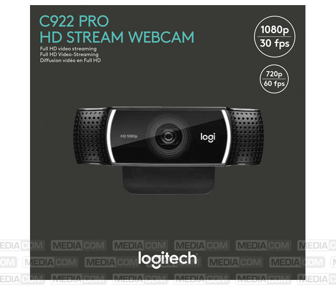 Webcam C922 Pro Stream, USB, HD 1080p
