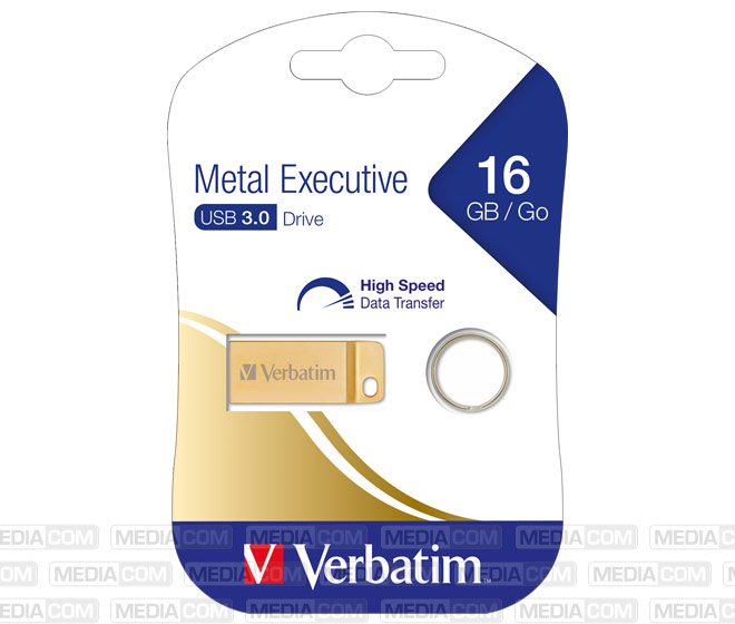 USB 3.0 Stick 16GB, Metal Executive, Gold
