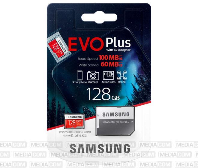 microSDXC Card 128GB, EVO Plus, Class 10, U3