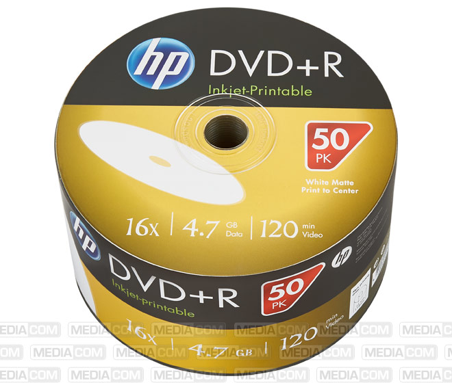 DVD+R 4.7GB/120Min/16x Bulk Pack (50 Disc)