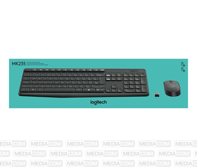 Tastatur/Maus Set MK235, Wireless, anthrazit