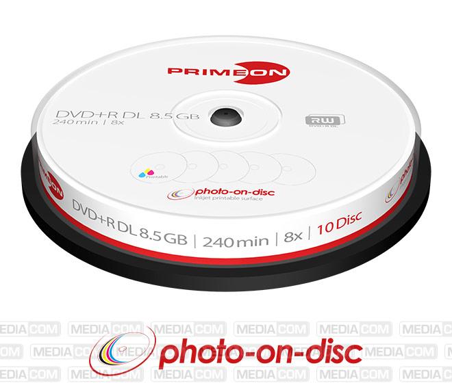 DVD+R DL 8.5GB/240Min/8x Cakebox (10 Disc)