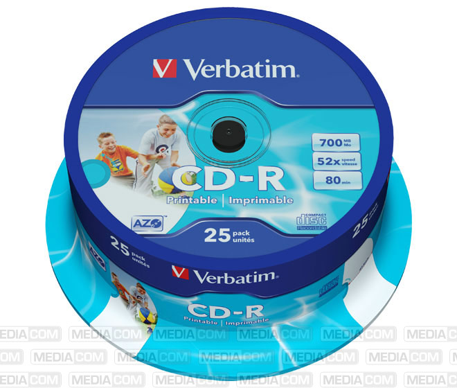 CD-R 80min/700MB/52x Cakebox  (25 Disc)