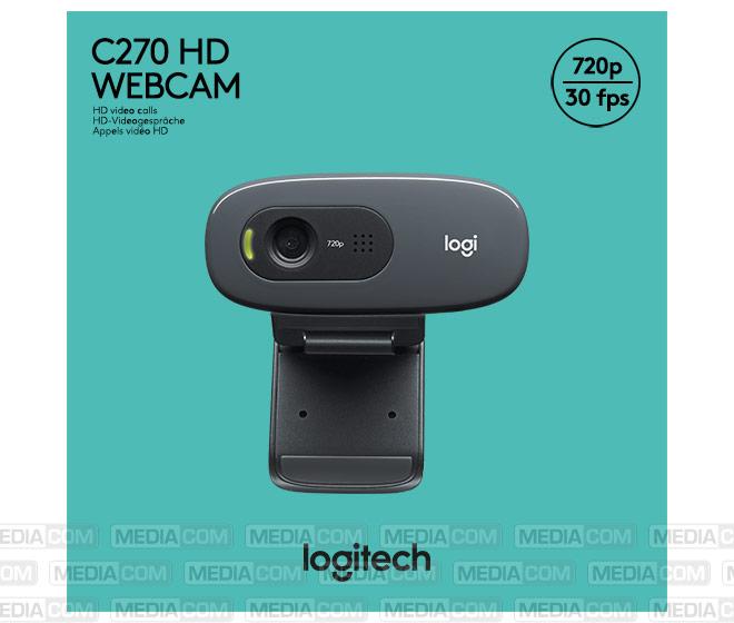 Webcam C270, USB, HD 720p