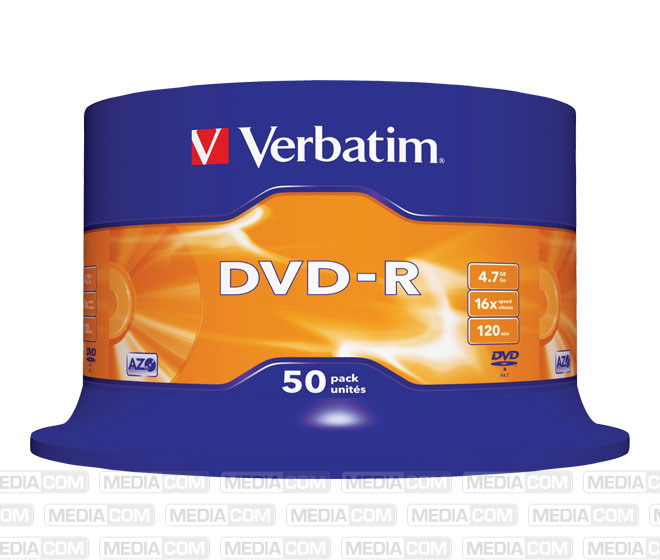DVD-R 4.7GB/120Min/16x Cakebox (50 Disc)