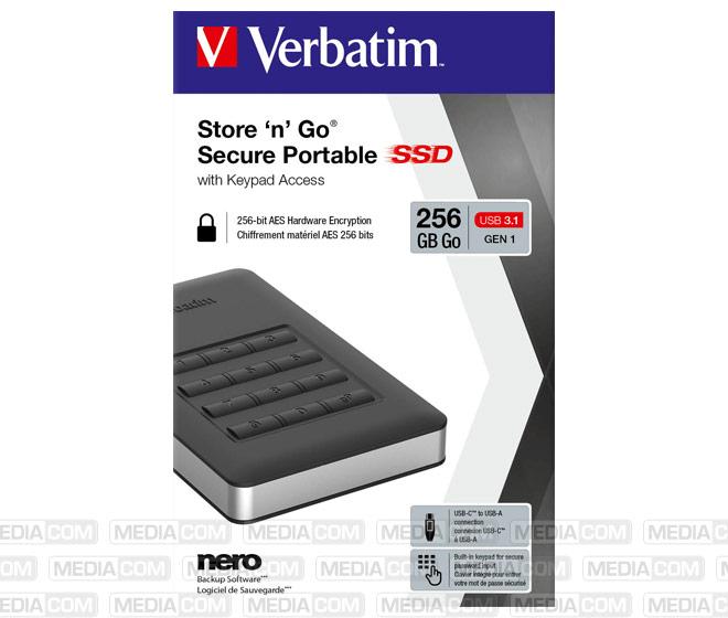 SSD 256GB, USB 3.1, A-C, 4.57cm (1.8''), schwarz