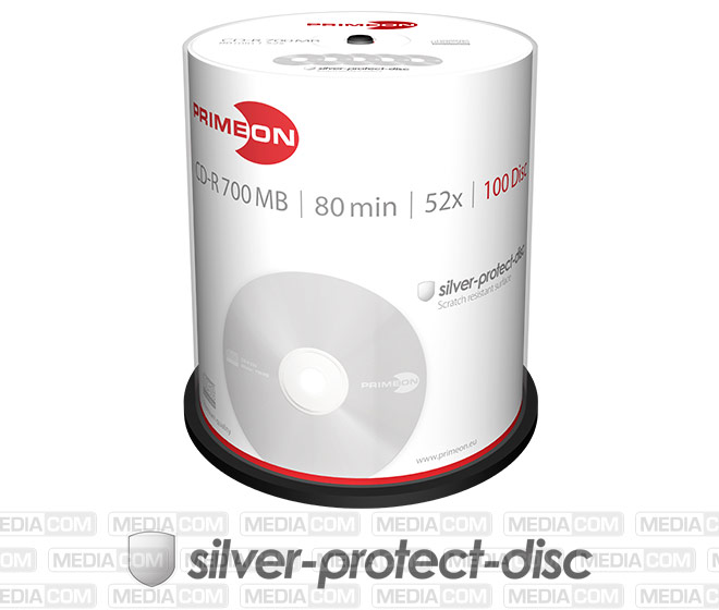 CD-R 80Min/700MB/52x Cakebox (100 Disc)