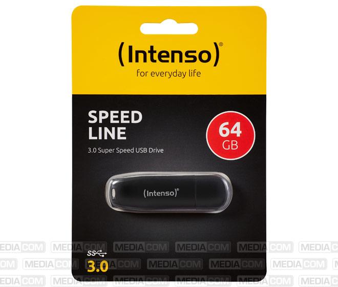 USB 3.0 Stick 64GB, Speed Line, schwarz