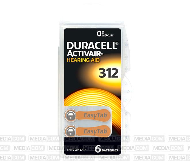 Batterie Zinc Air, 312, 1.45V