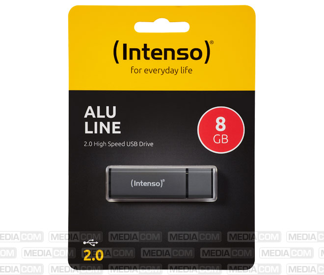 USB 2.0 Stick 8GB, Alu Line, anthrazit