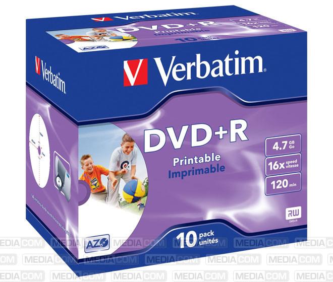 DVD+R 4.7GB/120Min/16x Jewelcase (10 Disc)