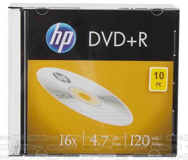 DVD+R 4.7GB/120Min/16x Slimcase (10 Disc)