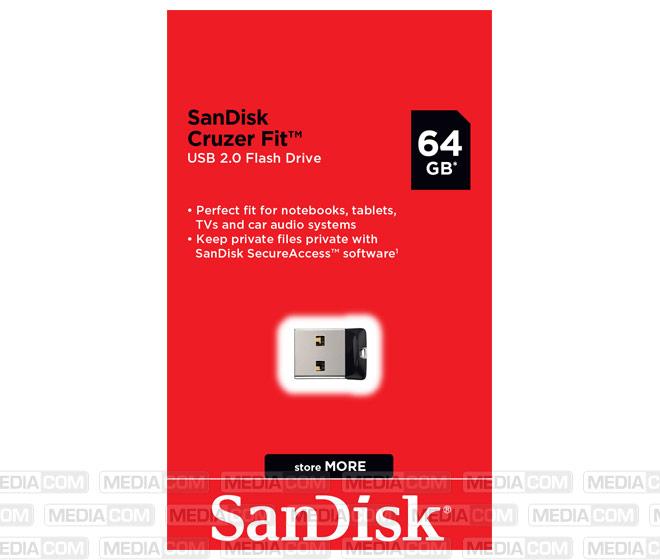 USB 2.0 Stick 64GB, Cruzer Fit