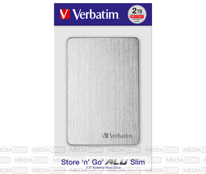 Festplatte 2TB USB 3.2, A-C, 6.35cm (2.5''), silber