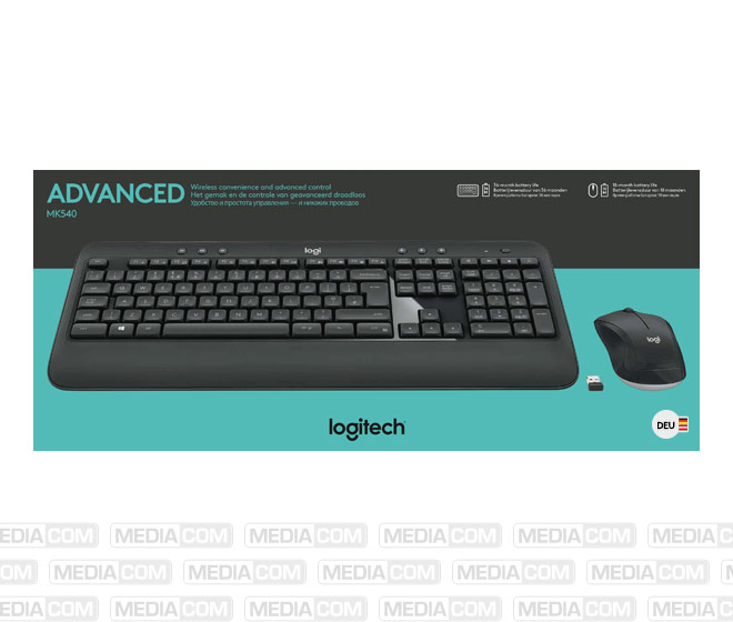 Tastatur/Maus Set MK540, Wireless, Unifying, schwarz