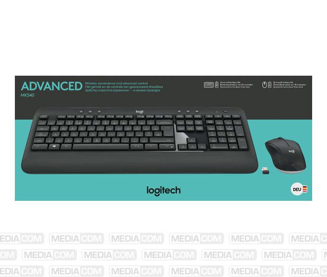 Tastatur/Maus Set MK540, Wireless, Unifying, schwarz