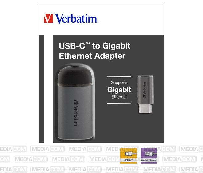 Adapter, USB 3.1-C/RJ45 Gigabit, silber