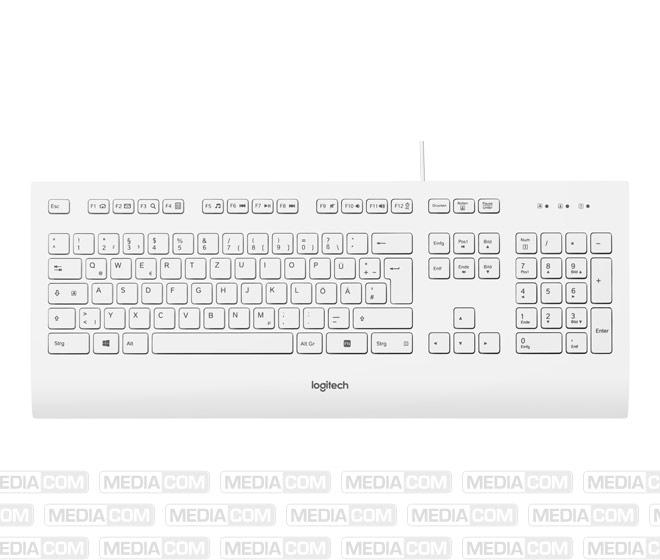Tastatur K280e, USB, weiss
