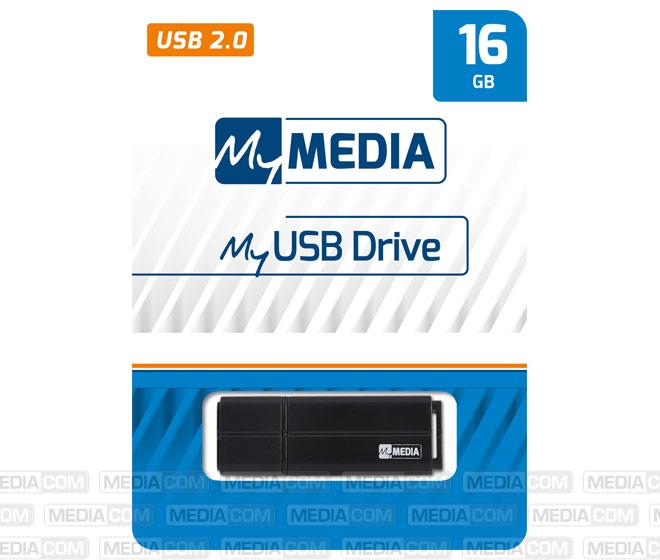 USB 2.0 Stick 16GB, schwarz