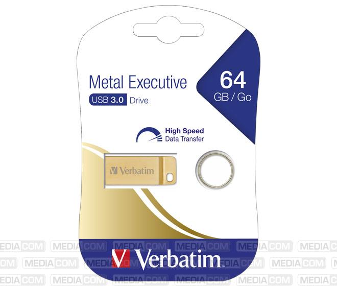 USB 3.0 Stick 64GB, Metal Executive, Gold