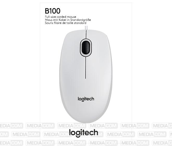 Maus B100, USB, weiss