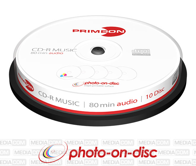 CD-R 80Min/AUDIO Cakebox (10 Disc)