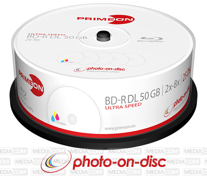 BD-R DL 50GB/2-8x Cakebox (25 Disc)