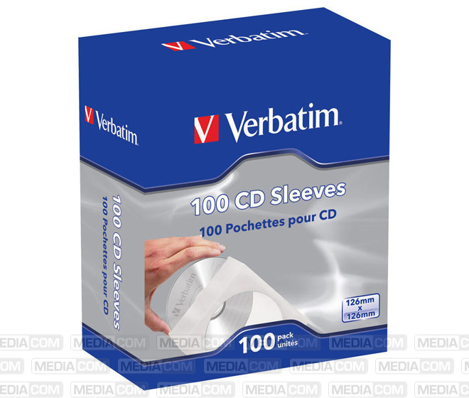 Softpack Sleeve für 1 Disc, Retail (100-Pack)