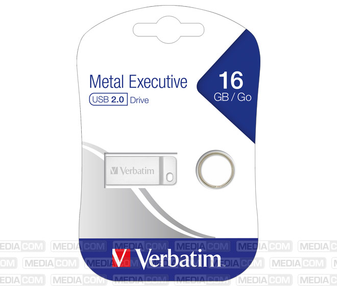 USB 2.0 Stick 16GB, Metal Executive, Silber