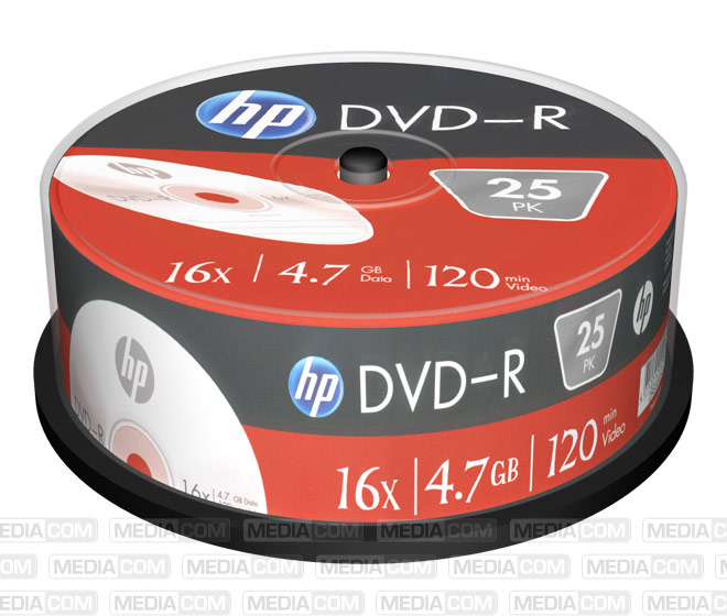 DVD-R 4.7GB/120Min/16x Cakebox (25 Disc)