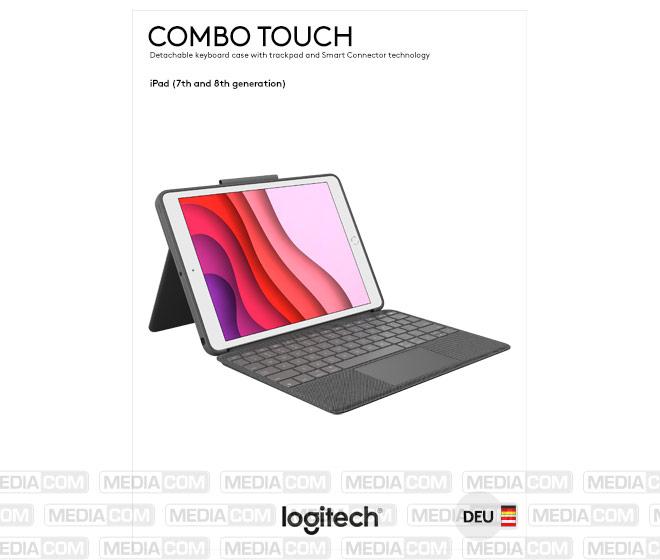 Tastatur Combo Touch, Smart Connector, grafit