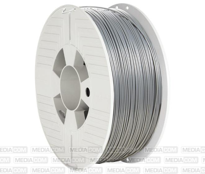3D Printer Filament, ABS, 1.75mm, 1kg, silber