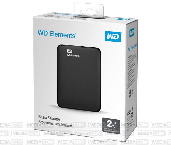 Festplatte 2TB, USB 3.0, 6.35cm (2.5''), schwarz