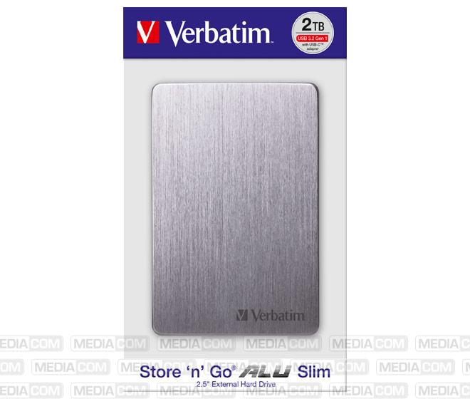 Festplatte 2TB USB 3.2, A-C, 6.35cm (2.5''), grau