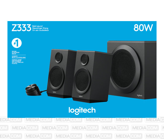 Lautsprecher Z333, Audio, Stereo 2.1, 80W