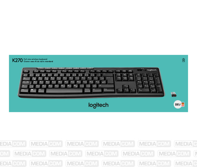Tastatur K270, Wireless, Unifying, schwarz
