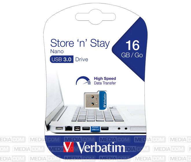 USB 3.0 Stick 16GB, Nano Store'n'Stay