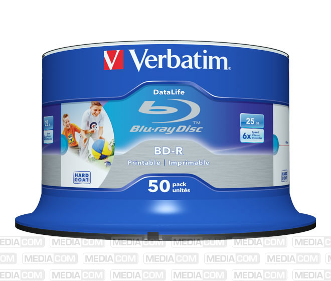BD-R 25GB/1-6x Cakebox (50 Disc)