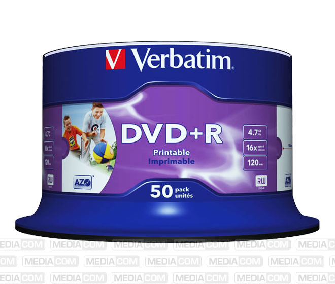DVD+R 4.7GB/120Min/16x Cakebox (50 Disc)