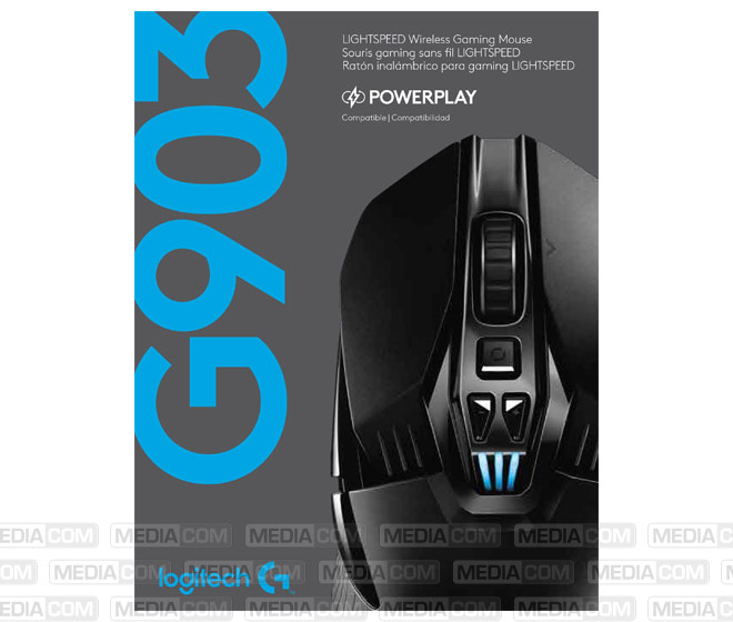 Gaming Maus G903, Wireless, schwarz/blau