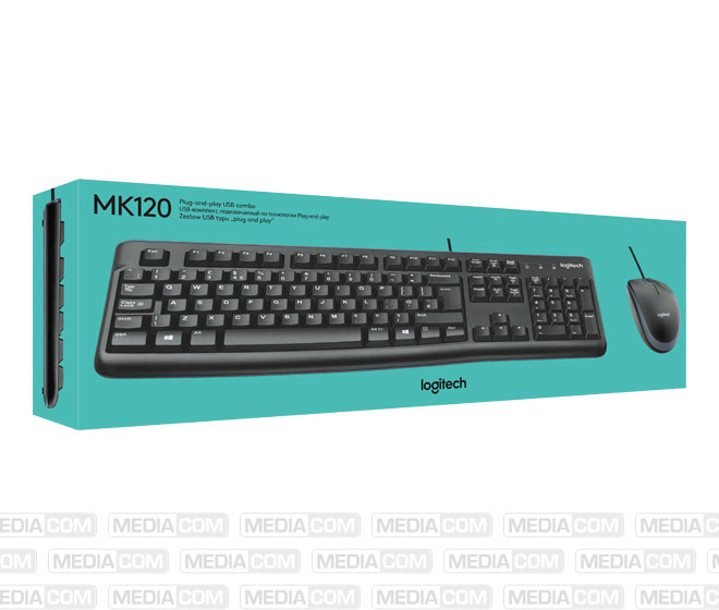 Tastatur/Maus Set MK120, USB, schwarz