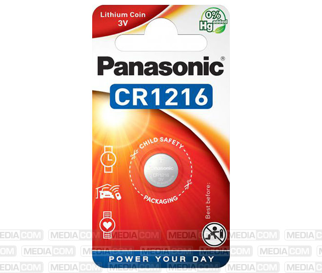 Batterie Lithium, Knopfzelle, CR1216, 3V
