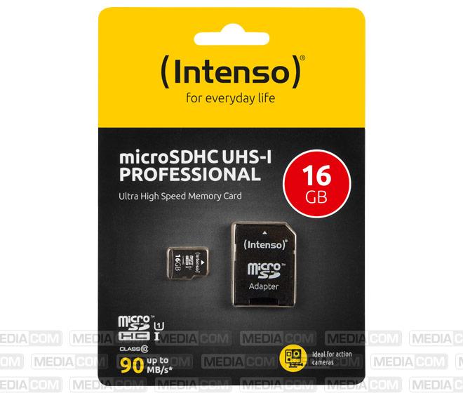 microSDHC Card 16GB, Professional, Class 10, U1