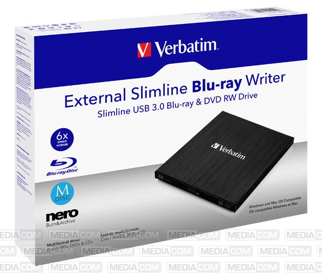 Blu-ray Recorder, USB 3.0, 6x/8x/24x, Slimline